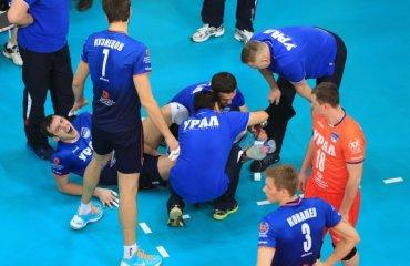 Страшные травмы иногда случаются Андрей Максимов, Урал, суперлига, мужчины, волейбол