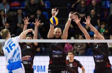 Уверенная победа второго состава «Газпром-Югры» в первом матче плей-офф Кубка ЕКВ волейбол, мужчины, еврокубки, кубок екв