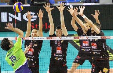 Результаты первых четвертьфинальных матчей чемпионата Италии волейбол, мужчины, Италия