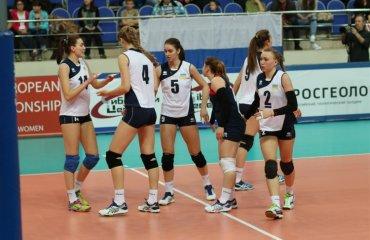 Євро-2016 (U-19, жінки). Україна завершила боротьбу за фінальну частину Євро волейбол, женщины, сборная, украина
