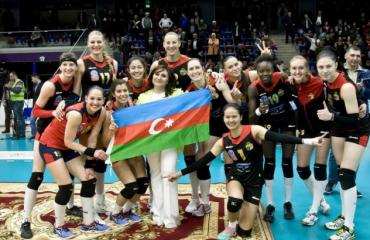 Азеррейл выиграл золото Суперлиги волейбол, женщины, суперлига, азербайджан