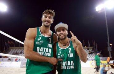 Итальянцы Адриан Карамбула и Алекс Рангиери победители Qatar Open волейбол, мужчины, пляжный волейбол, катар оупен