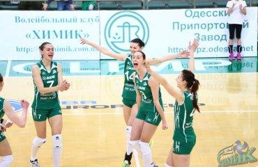 Ещё один победный пятисетовый матч для «Химика» волейбол, женщины, суперлига, украина
