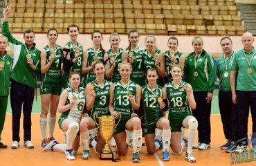 «Химик» награжден золотыми медалями волейбол, женщины, суперлига, украина