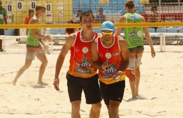 Фото матча квалификационного раунда Antalya Open с участием украинцев Алексея Денина и Сергея Попова пляжный волейбол, мужчины, фото, анталья