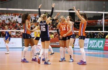 Сборная Нидерландов победила Казахстан в мировой олимпийской квалификации волейбол, женщины, олимпиада