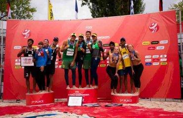Бразилия победила в Юниорском Чемпионате Мира пляжный волейбол