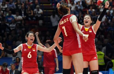 Китаянки уверенно победили Бразилию на «Воллей Мастерс» в Монтрё Воллей Мастерс