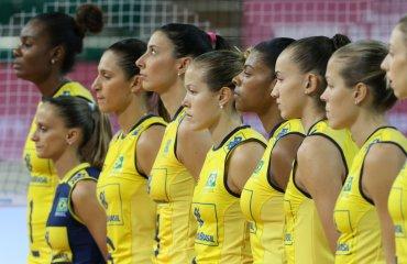 Женская сборная Бразилии проиграла второй матч кряду на «Воллей Мастерс» сборная Бразилии