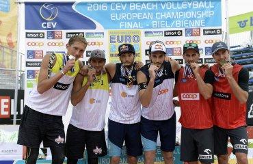 Паоло Николаи и Даниэле Лупо стали чемпионами Европы  по пляжному волейболу в Биле Чемпионат Европы