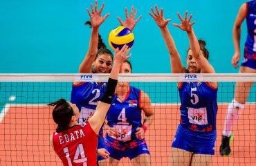 Женская сборная Японии в трёх партиях переиграла Сербию в Гран-при мировое Гран-при