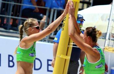 Трансляция матча с участием Валентины Давидовой и Евгении Щипковой пляжный волейбол, женщины, трансляция