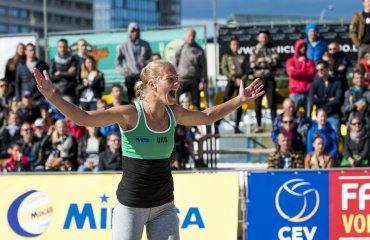 Украинская женская пара сотворила сенсацию на пляжном турнире  2016 CEV Beach Volleyball Satellite Vilnius выиграв золото Валентина Давыдова, Евгения Щипкова