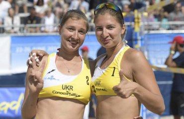 Фото матча с участием украинской пары Ирины и Инны Махно на Beach Volleyball Continental Cup пляжный волейбол, женщины, украина, норвегия, олимпиада, турнир, фотографии