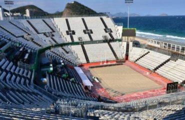 На Копакабане открылся пляжный стадион пляжный волейбол, мужчины, женщины, олимпиада, рио. бразилия