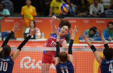 Женская сборная России обыграла Южную Корею в волейбольном турнире сборная России