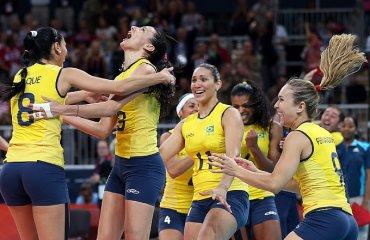 Волейболистки сборной Бразилии обыграли команду Аргентины в матче ОИ-2016