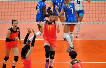 Сборная Китая по волейболу обыграла сборную Италии