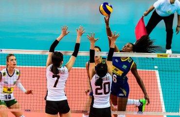 Волейболистки сборной Бразилии победили команду Японии в матче Олимпиады сборная Бразилии