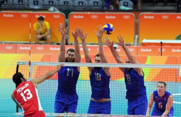 Российские волейболисты обыграли египтян в матче группового этапа на ОИ в Рио сборная России