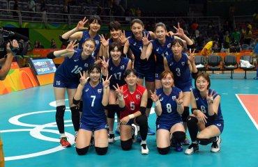 Волейболистки сборной Южной Кореи обыграли команду Камеруна в группе на Олимпиаде Сборная Кореи