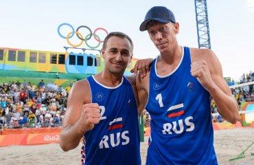 Дмитрий Барсук и Никита Лямин (Россия) не смогли выйти в полуфинал ОИ по пляжному волейболу Никита Лямин и Дмитрий Барсук