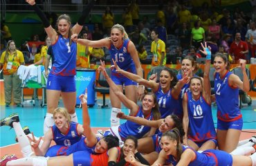 Россиянки проиграли в четвертьфинале Олимпиады Женская сборная России