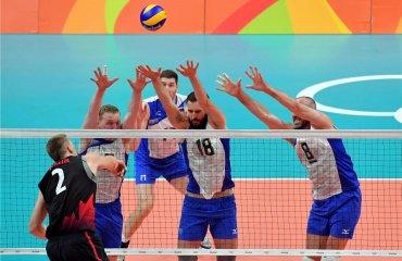 Российские волейболисты разгромили Канаду и вышли в полуфинал Сборная России