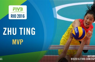 Китаянка Жу Тинг – MVP олимпийского турнира волейбол, женщины, олимпиада, рио, бразилия