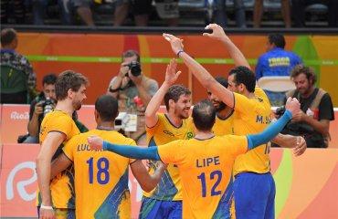 """Мужская сборная Бразилии выигрывает """"золото"""" Олимпиады ОЛимпийские Игры, Бразилия, Италия,"""