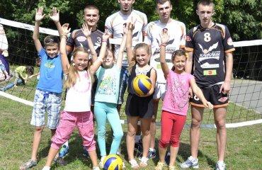 "З Днем Незалежності України ""кажани"" привітали дитячим матчем волейбол, мужчины, суперлига, украина"