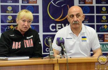 Украина - Австрия. Послематчевая пресс-конференция (ВИДЕО) волейбол, женщины, сборная, украина, чемпионат европы, турнир, отбор, австрия, интервью