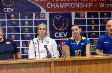 Украина - Латвия. Послематчевая пресс-конференция (ВИДЕО) волейбол, женщины, сборная, украина, чемпионат европы, турнир, отбор, латвия, интервью