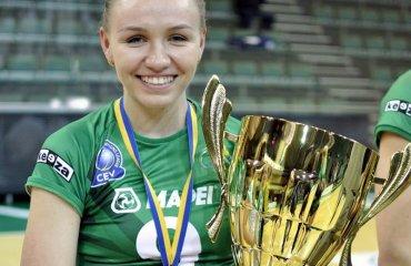 """Юлия БОЙКО: """"Очень рада, что мой вклад в эту золотую медаль тоже присутствует"""" (ВИДЕО) женский волейбол. суперлига украины, химик южный, видео юлия бойко интервью"""
