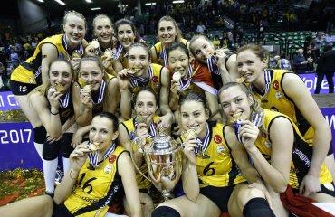 """Турецкий """"Вакифбанк"""" в третий раз выиграл Лигу чемпионов женский волейбол, лига чемпионов, финал четырех, фото и видео, вакифбанк"""