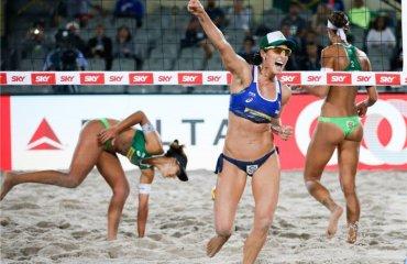 Найяскравіші фото матчів Світового туру в Бразилії пляжный волейбол, мировой тур 2017, fivb, фото матчей, мужской и женский волейбол