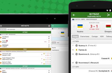 Мобiльний додаток MyScore.ua волейбол, myscore, результати онлайн, мобільний додаток, реклама