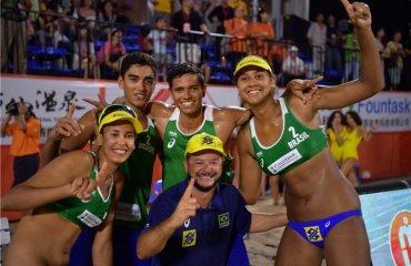 Бразильцы выиграли чемпионат мира по пляжному волейболу U-21 пляжный волейбол, чемпионат мира ю21, китае, нанджин, украинская пара стасенко архипов, чемпионы мира бразильцы ренато адриелсон, дуда патрисиа, сша, италия, россия. латвия,