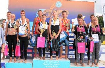 Дві українські пари на п'єдесталі чемпіонату EEVZA U-18 (ФОТО) пляжный волейбол, евза, укрианские пары, медали, рылова чечельницкая, дашевская лисица