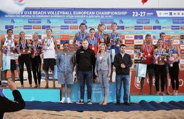 Українки Лисиця та Дашевська стали бронзовими призерками чемпіонату Європи U-18 пляжний волейбол, лисиця\дашевська, бронза чемпіонату європи ю18, результати. фото