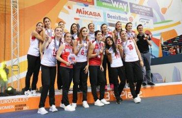 Сборная Турции - бронзовый призёр чемпионата Европы-2017 женский волейбол, чемпионат европы-2017, женская сборная турции, бронзовый призёр видео фото статистика матча