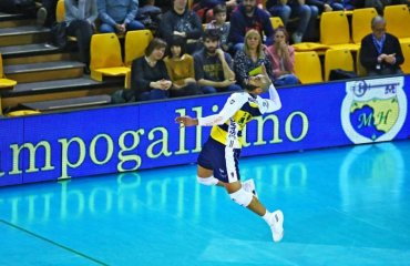 Нгапет установил рекорд чемпионата Италии по эйсам за матч (ВИДЕО) мужской волейбол, эрвин нгапет рекорд чемпионата италии эйсы, модена, видео