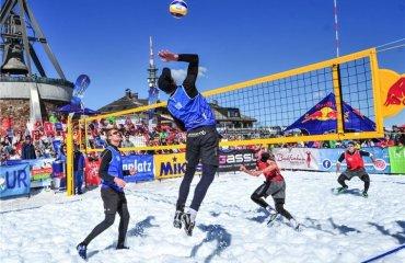 На Олимпиаде-2018 проведут выставочный матч по волейболу на снегу волейбол на снегу, олимпиада-2018, екв, фивб, віставочній матч