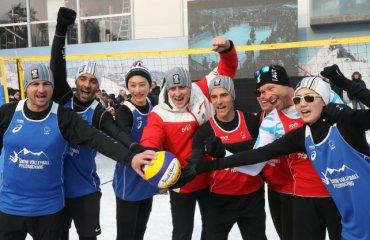 На Олимпиаде-2018 прошла презентация волейбола на снегу (ФОТО+ВИДЕО) волейбол на снегу, олимпиада-2018, презентация, фото видео, выставочный матч, чемпионат европы, жиба, грбич, интервью, австрийский дом, австрия