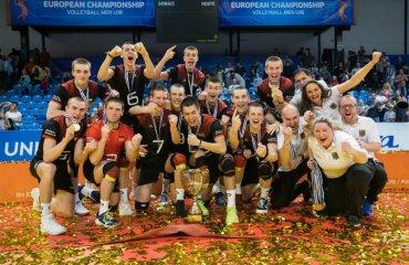 Збірна Німеччини U-18 стала переможцем чемпіонату Європи-2018 мужской волейбол, чоловічий волейбол, чемпіонат європи-2018, ю18, збірна німеччина переможець, фото символічна збірна турніру