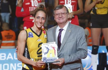 Нападающая Гёзде Кырдар - MVP женской Лиги чемпионов-2018 женский волейбол, лига чемпионов-2018, финал четырёх, гезде кырдар, вакифбанк, видео