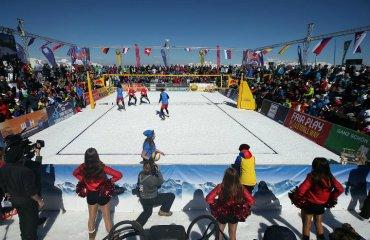 У волейбол на снігу віднині гратимуть втрьох сніжний волейбол, волейбол на снігу, команда з трьох чоловік, єкв, фівб