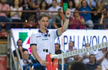В Италии впервые была показана зелёная карточка мужской волейбол, суперкубок италии-2018, зелёная карточка, честная игра