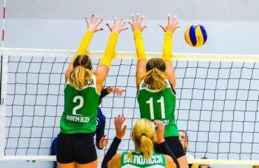 """Вища (жінки). 3-й тур. Перша поразка ВК """"Полісся"""" жіночий волейбол, вища ліга україни 2018\19, полісся житомира, орбіта запоріжжя"""