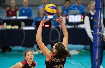 """Дарья Великоконь стала самой юной волейболисткой """"Химика"""", сыгравшей за сборную Украины женский волейбол, химик южный, суперлига украины, женская чборная украины чемпионат европы 2019, квалификация"""